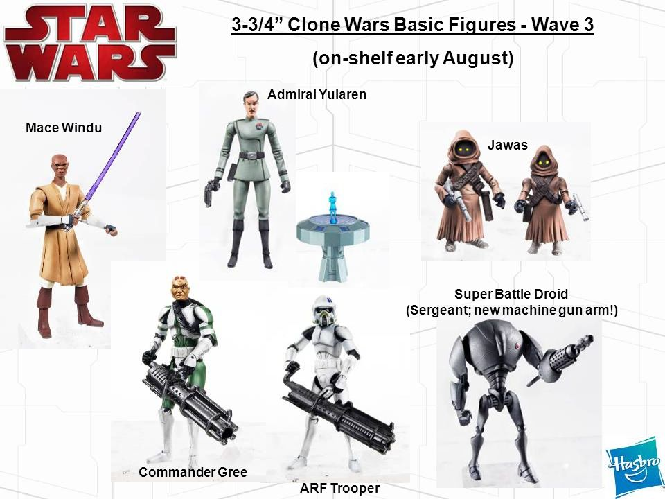 3-3/4 Clone Wars Basic Figures - Wave 3 (on-shelf early August)