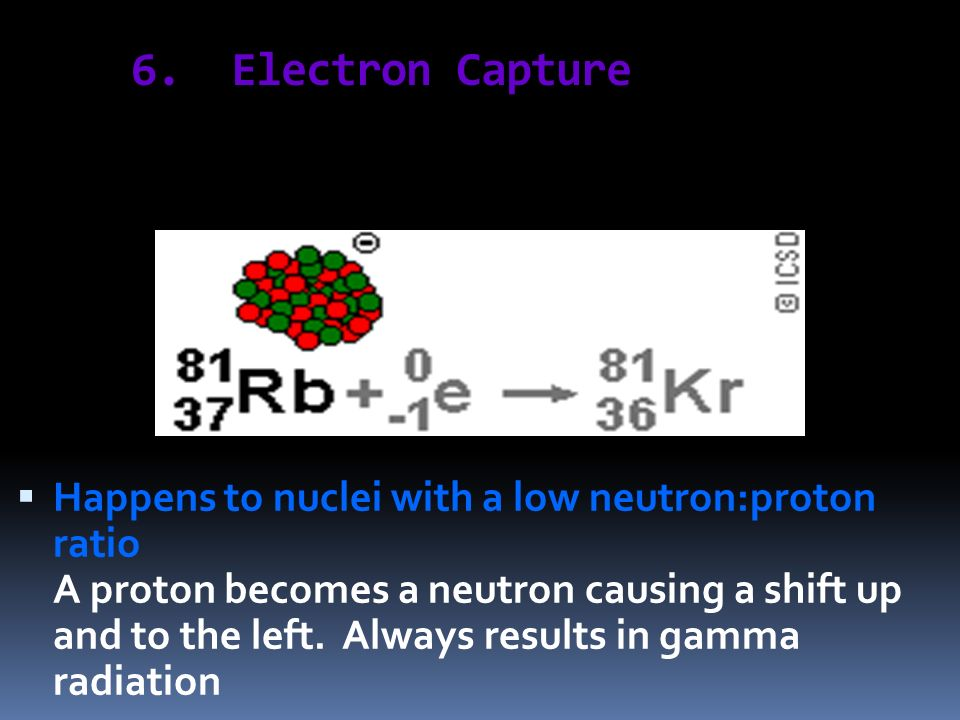 6. Electron Capture