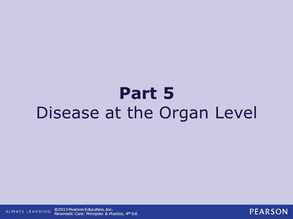 Part 5 Disease at the Organ Level