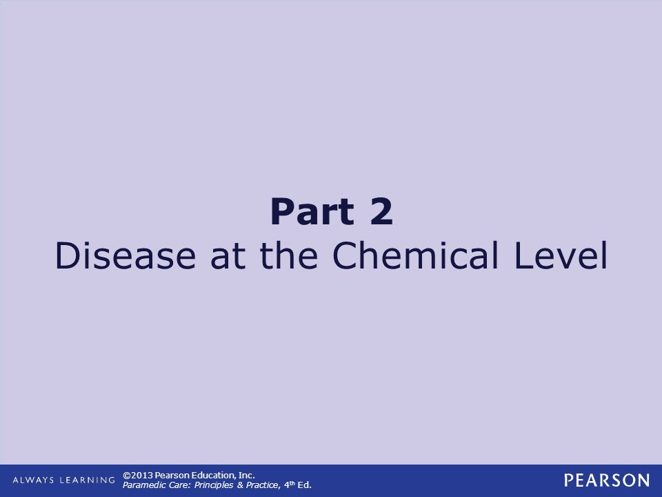 Part 2 Disease at the Chemical Level