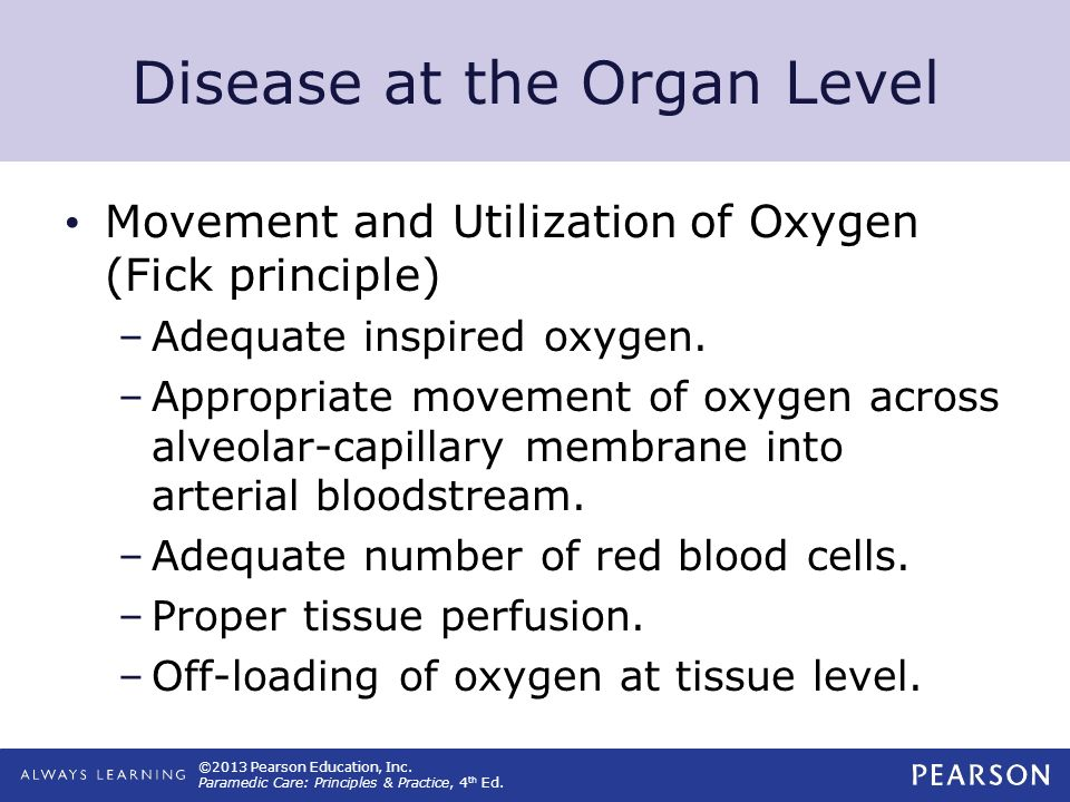 Disease at the Organ Level