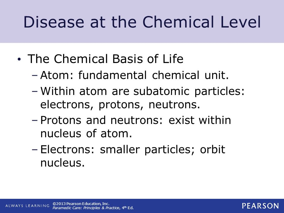 Disease at the Chemical Level