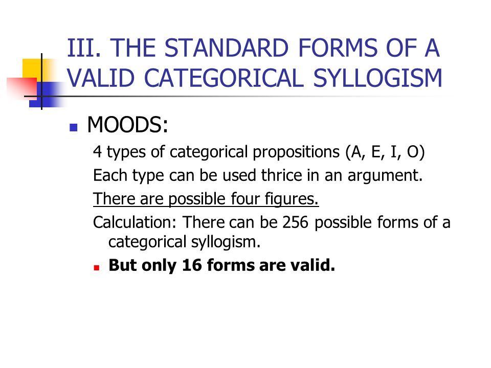 The Categorical Syllogism Ppt Video Online Download