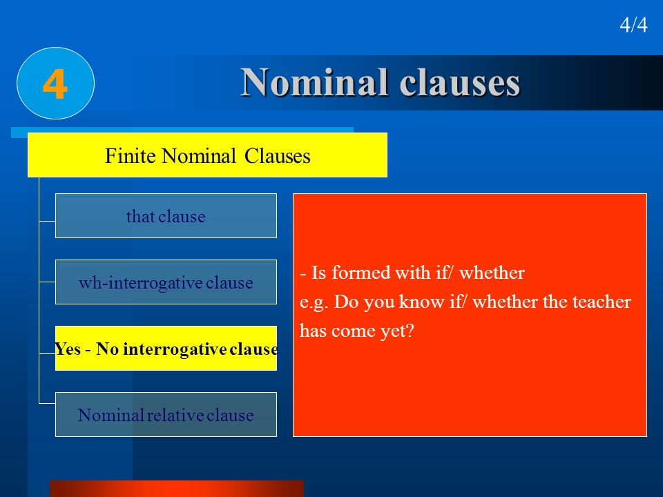 Yes - No interrogative clause