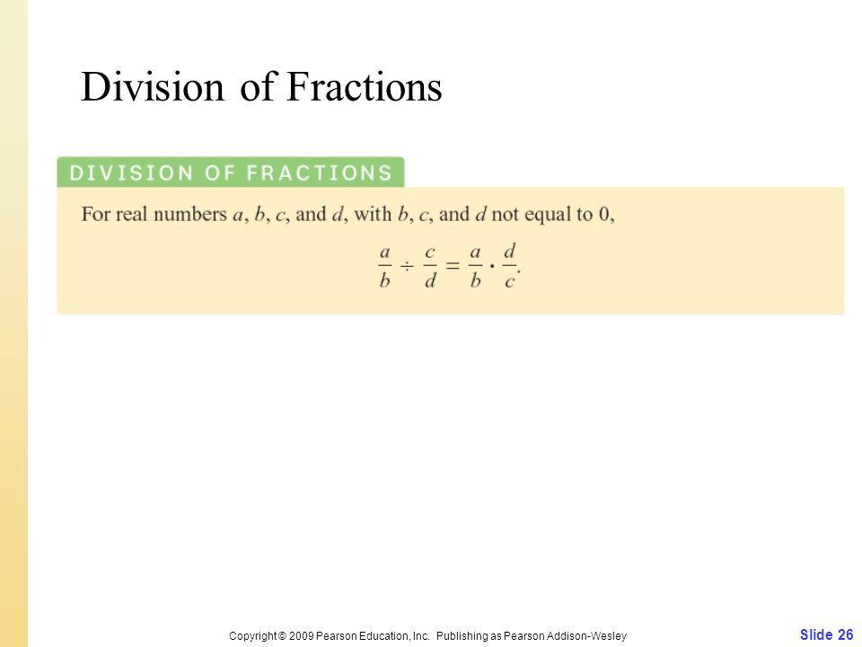 Division of Fractions Slide 26