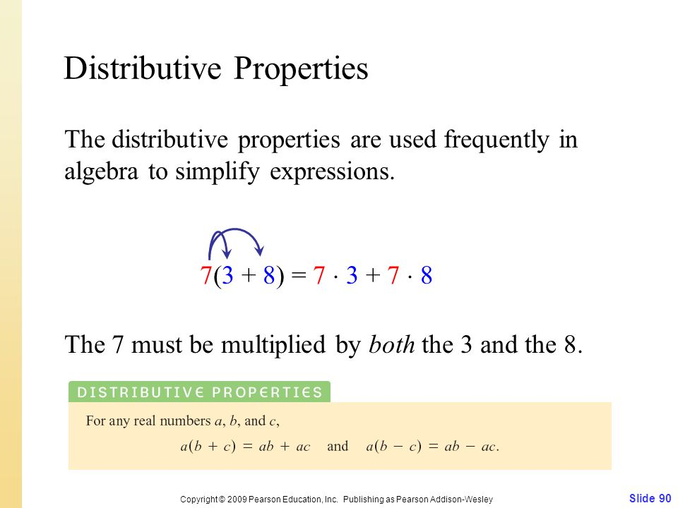 Distributive Properties