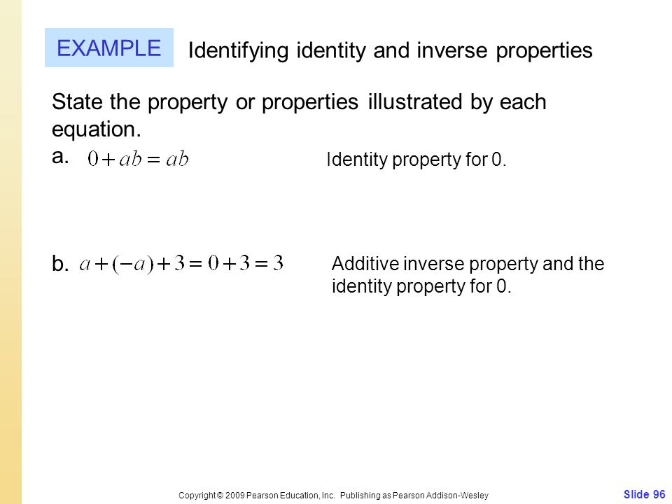 Identifying identity and inverse properties