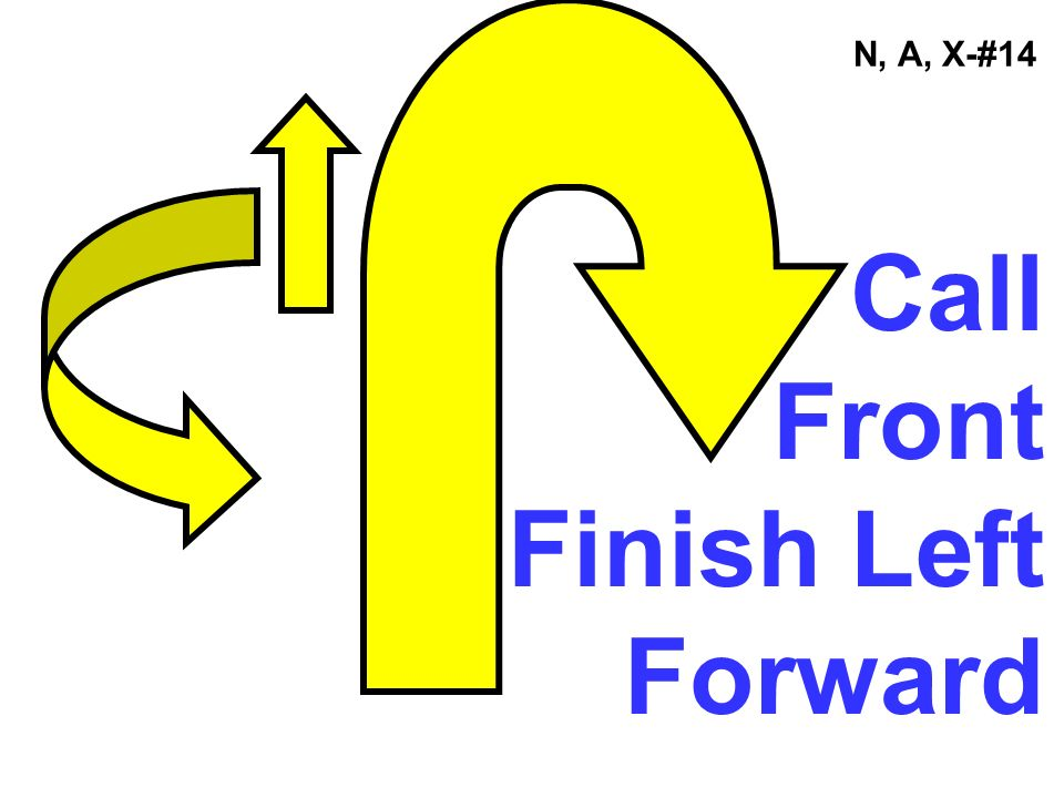 N, A, X-#14 Call Front Finish Left Forward