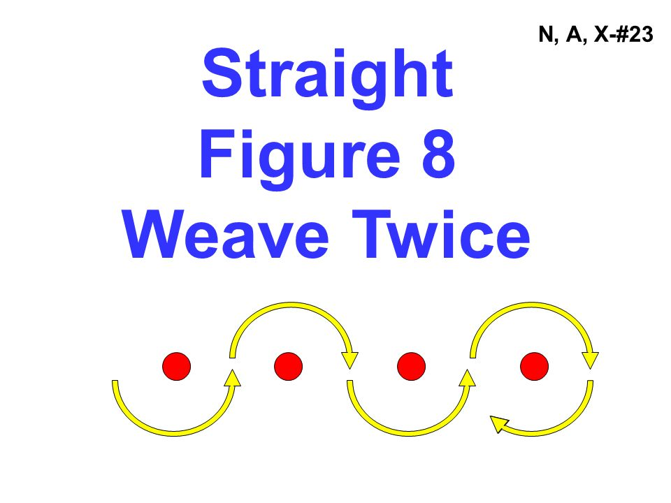 Straight Figure 8 Weave Twice