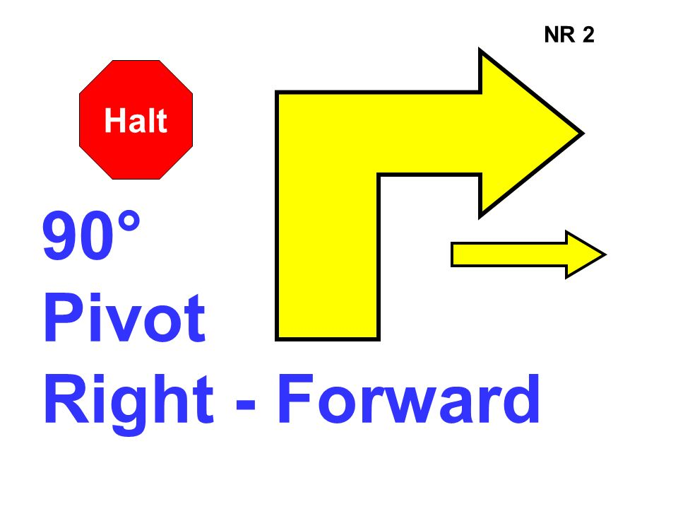 NR 2 Halt 90° Pivot Right - Forward