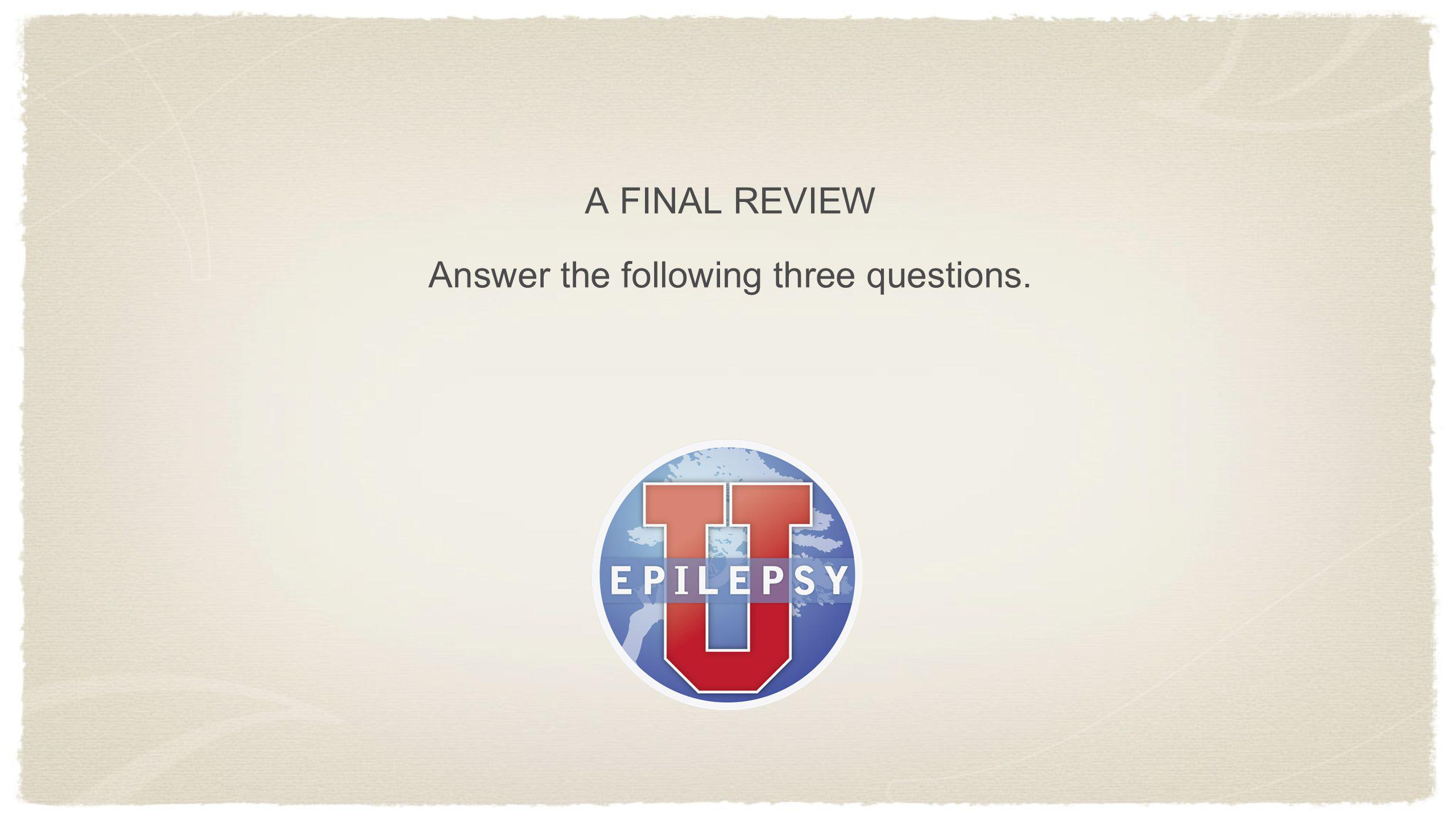 Answer the following three questions.
