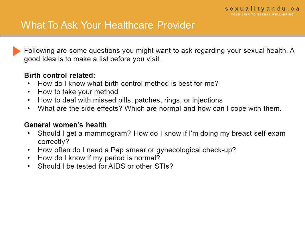 What To Ask Your Healthcare Provider