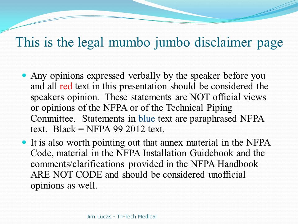 This is the legal mumbo jumbo disclaimer page