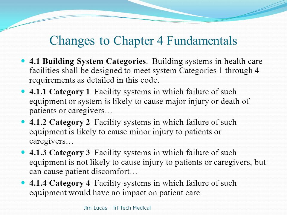 Changes to Chapter 4 Fundamentals
