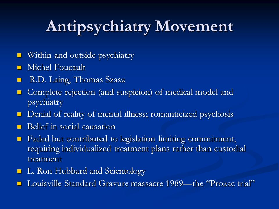 Antipsychiatry Movement