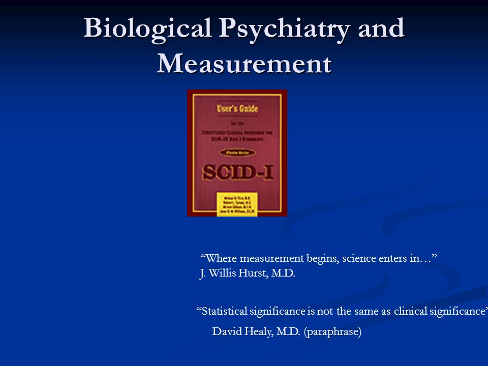 Biological Psychiatry and Measurement