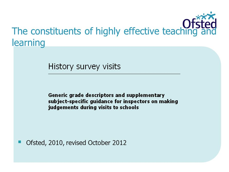 The constituents of highly effective teaching and learning