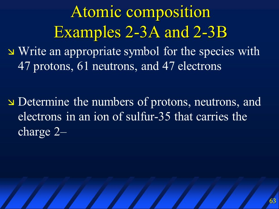 Atomic composition Examples 2-3A and 2-3B
