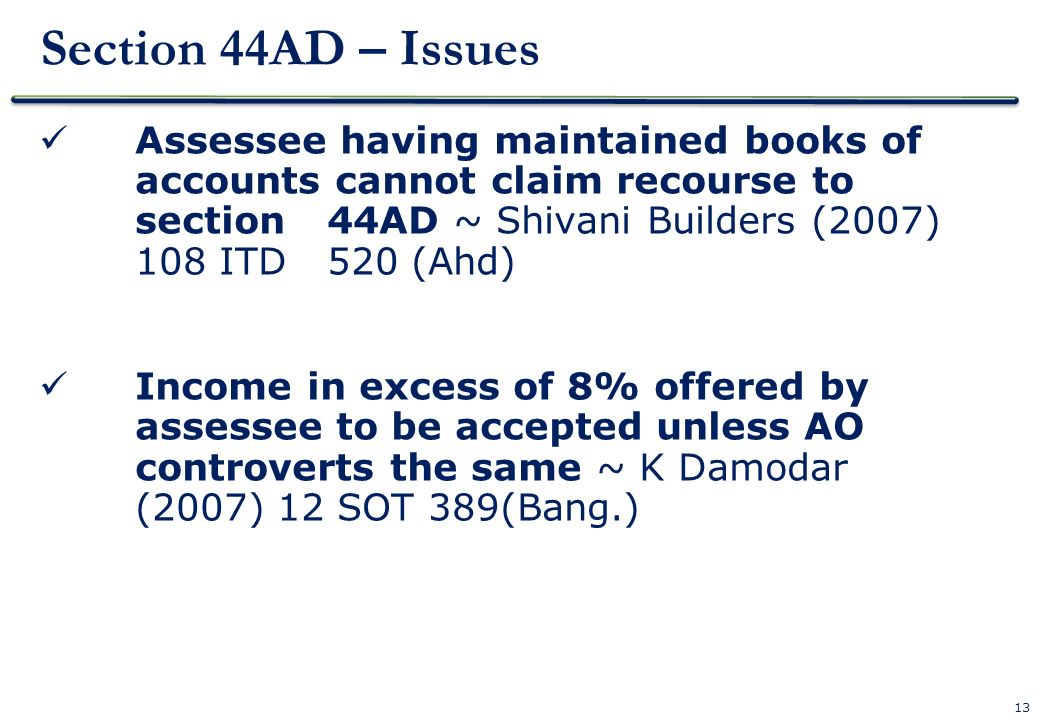 Section 44AD – Issues