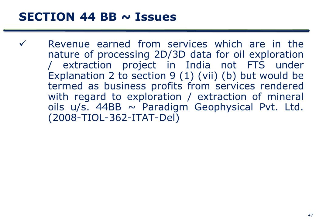 SECTION 44 BB ~ Issues