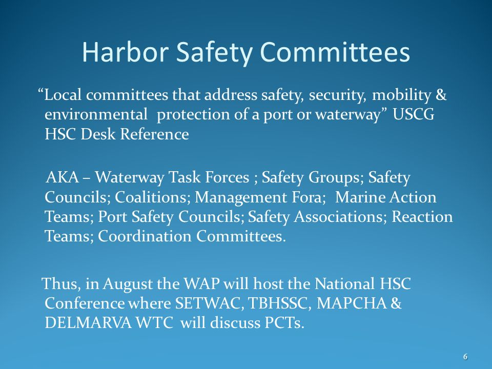 Harbor Safety Committees
