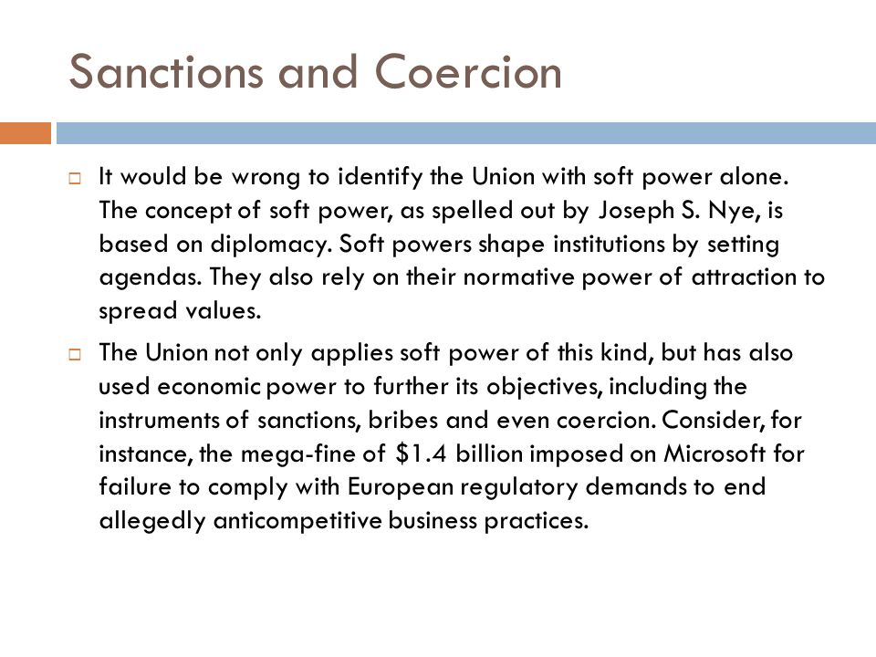 Sanctions and Coercion
