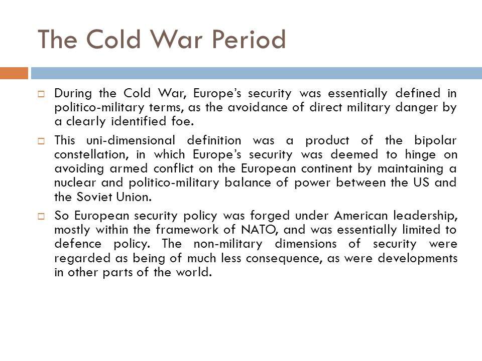 The Cold War Period