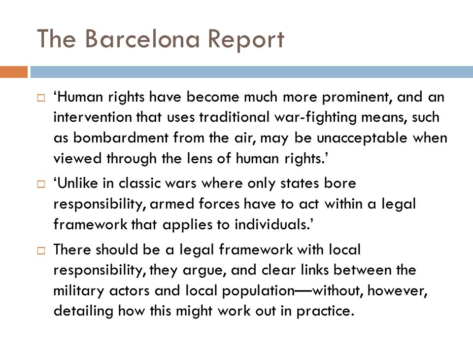 The Barcelona Report