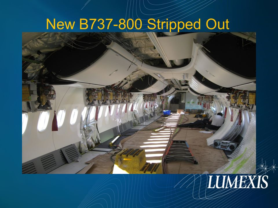 New B737-800 Stripped Out