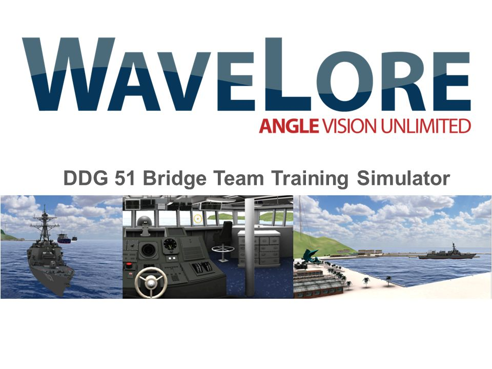 DDG 51 Bridge Team Training Simulator