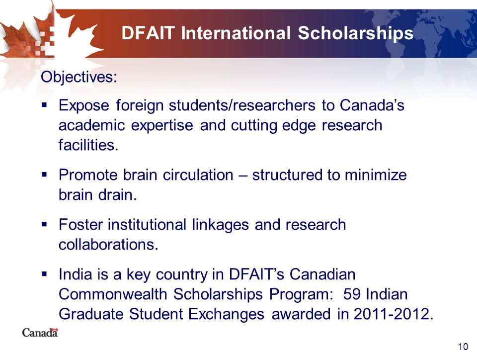 DFAIT International Scholarships