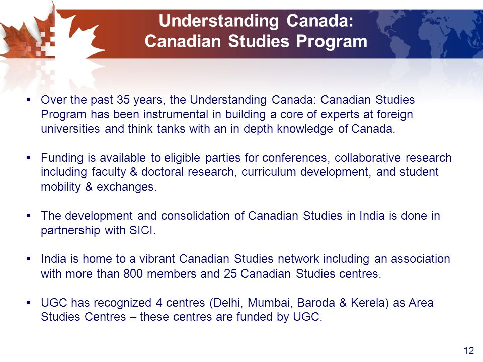 Understanding Canada: Canadian Studies Program