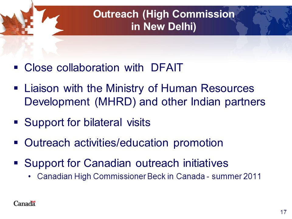Outreach (High Commission in New Delhi)
