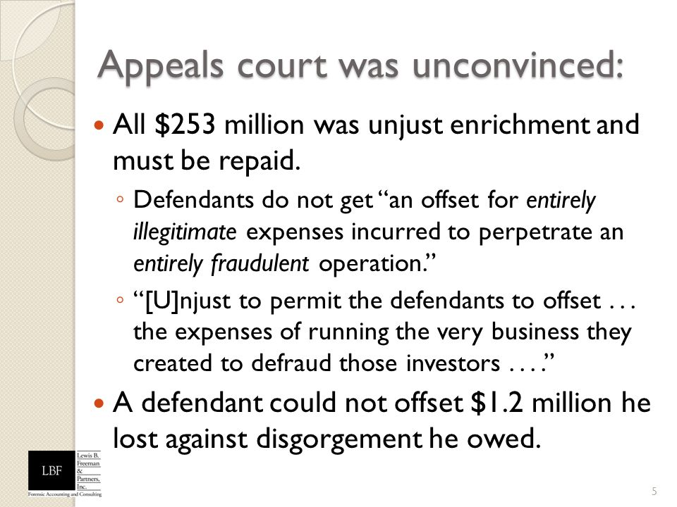 Appeals court was unconvinced:
