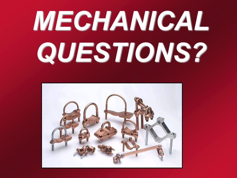 MECHANICAL QUESTIONS