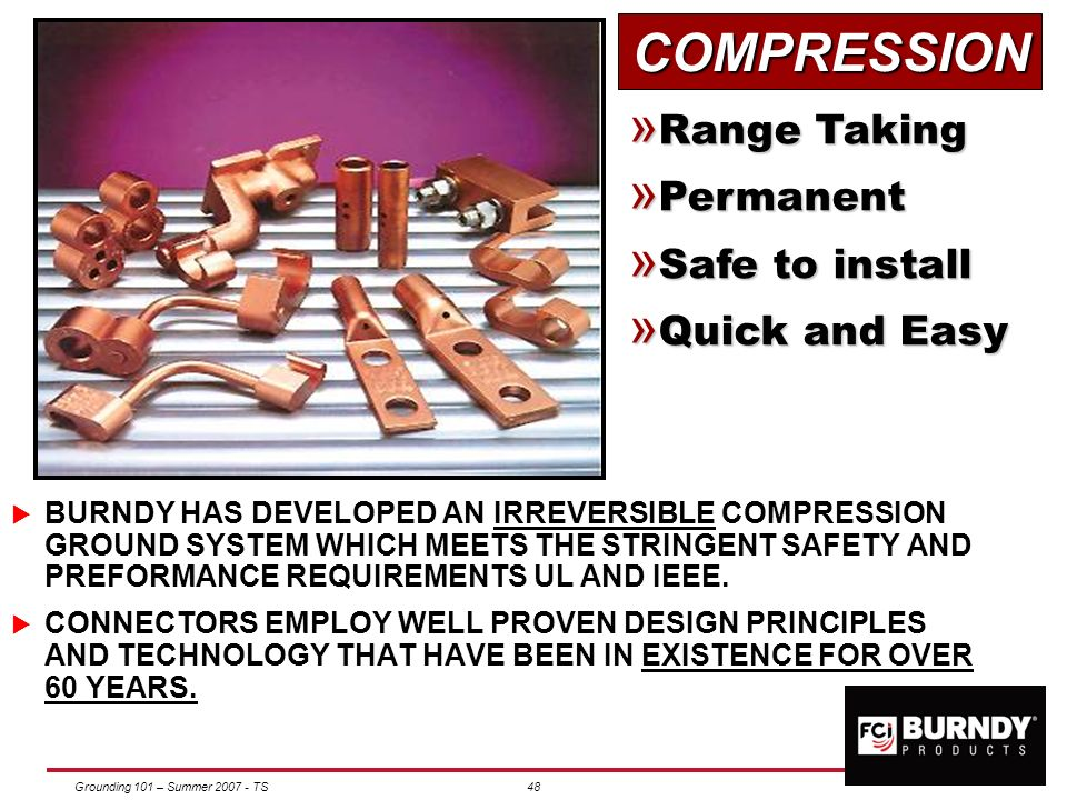 COMPRESSION Range Taking Permanent Safe to install Quick and Easy