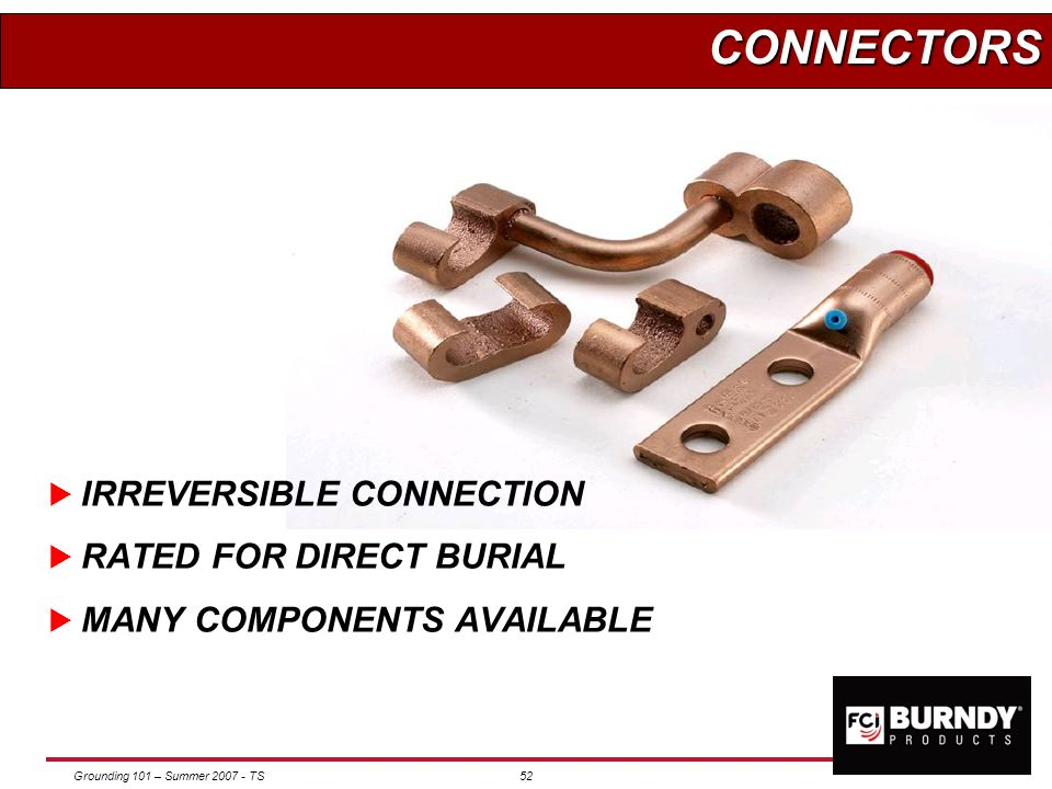 CONNECTORS IRREVERSIBLE CONNECTION RATED FOR DIRECT BURIAL