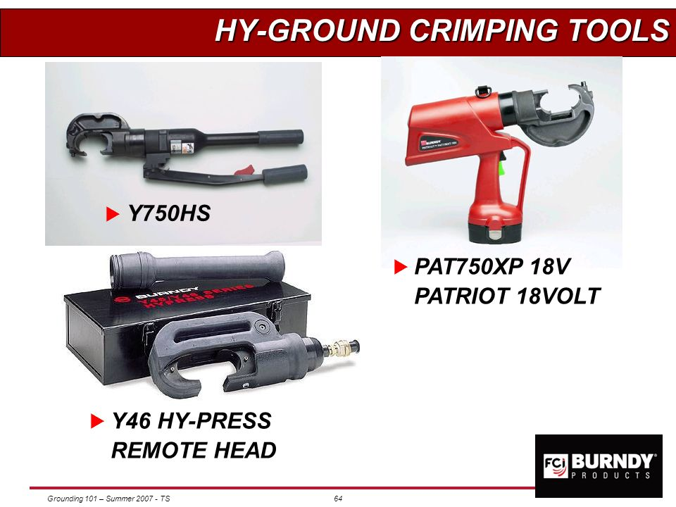 HY-GROUND CRIMPING TOOLS