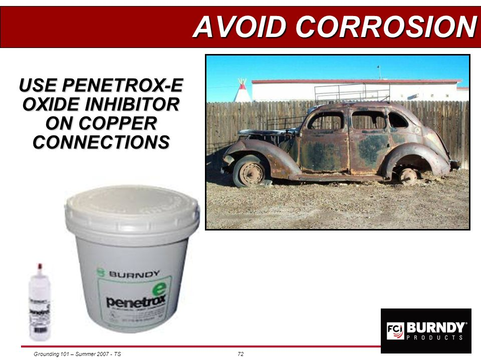 USE PENETROX-E OXIDE INHIBITOR ON COPPER CONNECTIONS