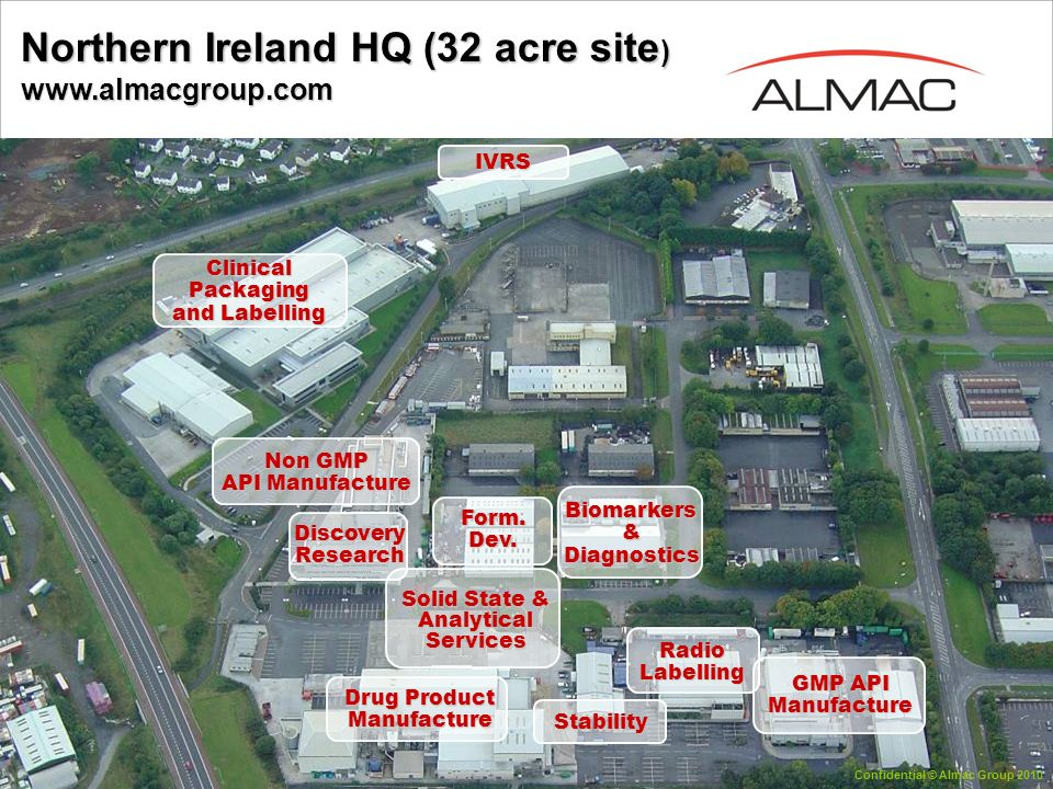 Northern Ireland HQ (32 acre site) www.almacgroup.com