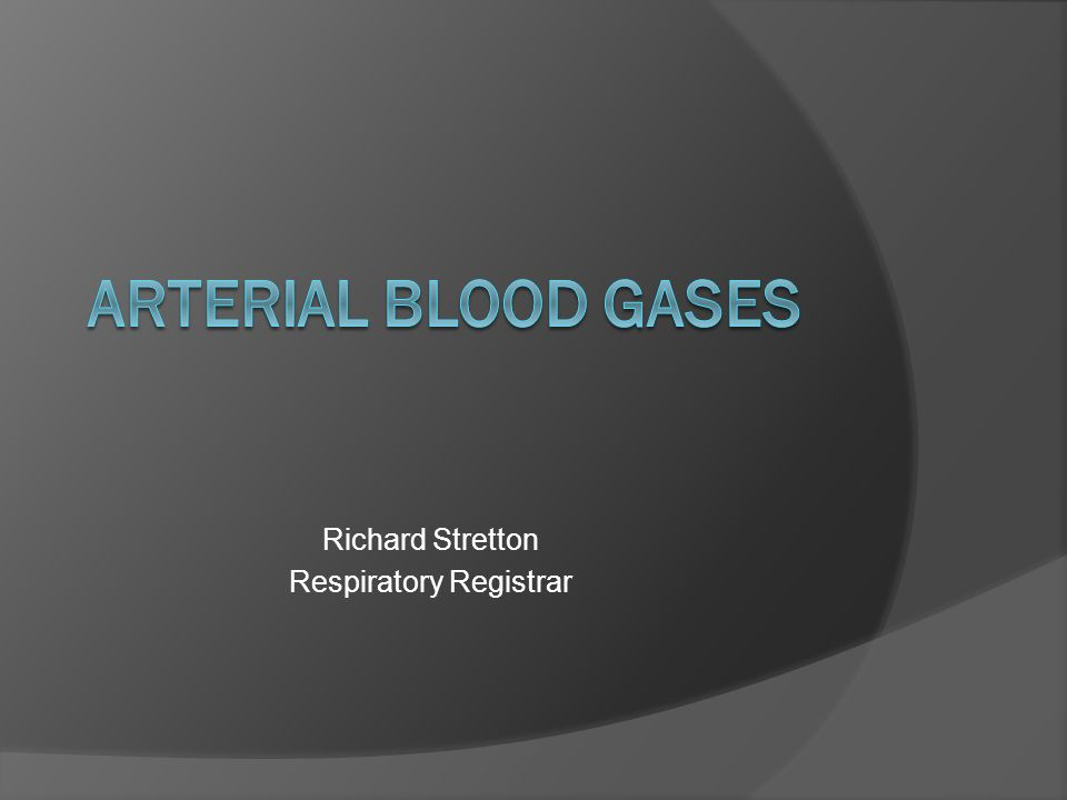 Richard Stretton Respiratory Registrar