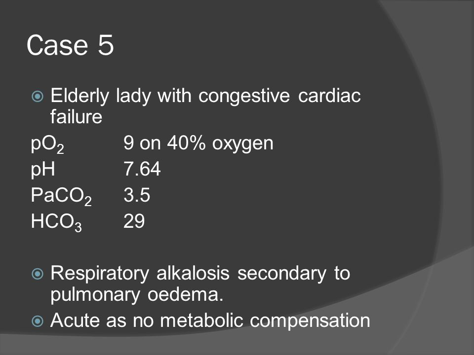 Case 5 Elderly lady with congestive cardiac failure