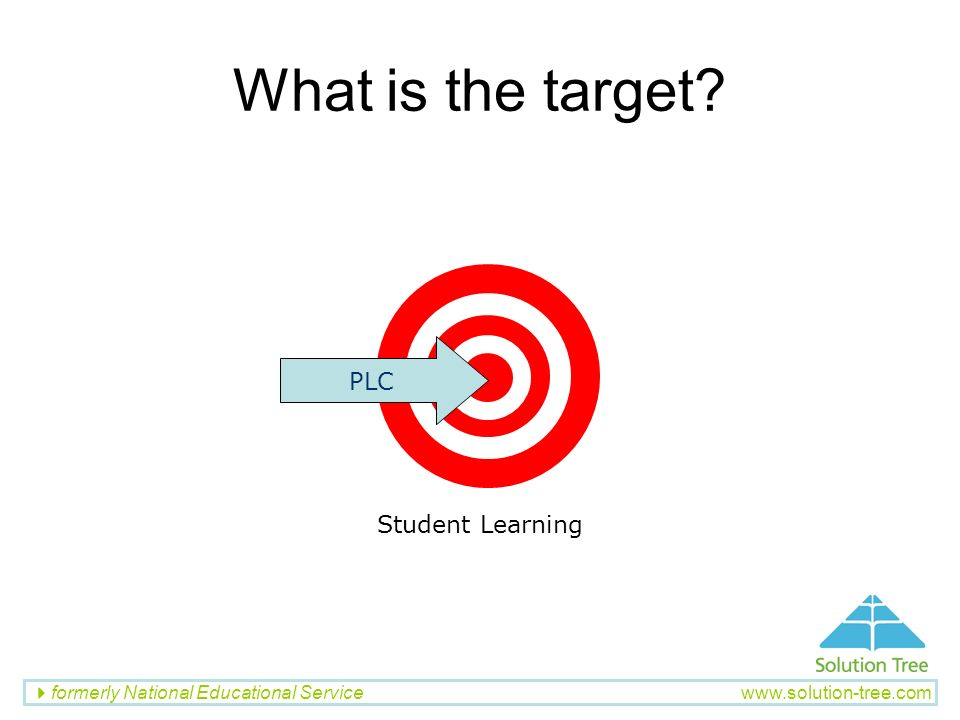 What is the target PLC Student Learning