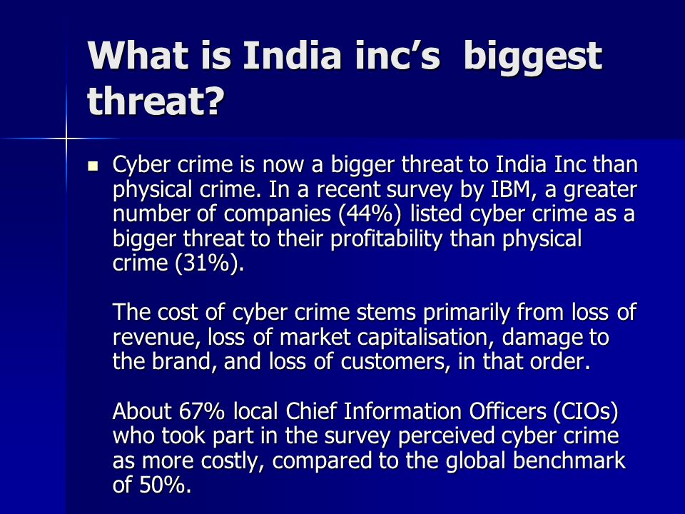 What is India inc's biggest threat