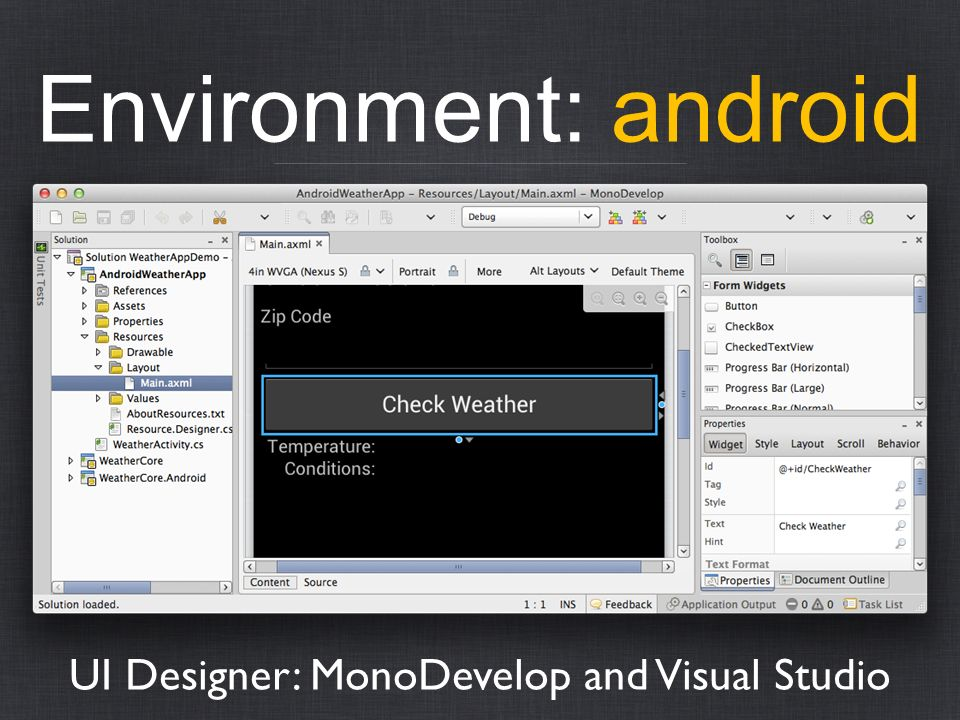 UI Designer: MonoDevelop and Visual Studio