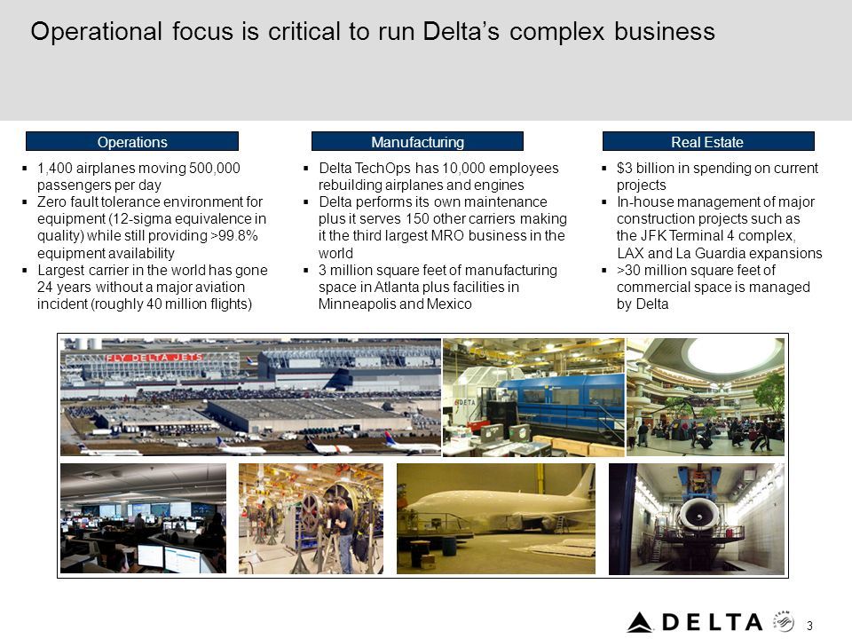 Operational focus is critical to run Delta's complex business