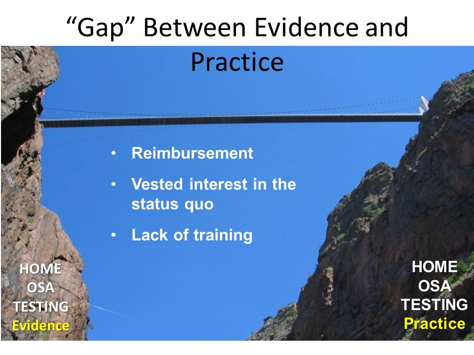 Gap Between Evidence and Practice