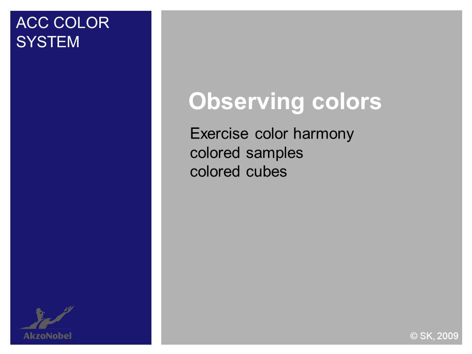 Observing colors ACC COLOR SYSTEM Exercise color harmony