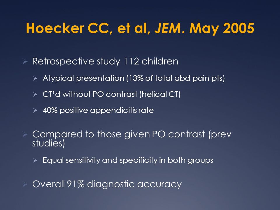 Hoecker CC, et al, JEM. May 2005 Retrospective study 112 children
