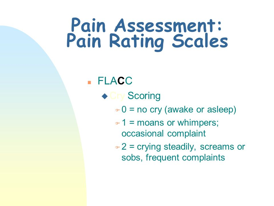 Pain Assessment: Pain Rating Scales